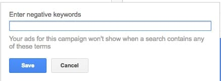 Don't forget about the negative keywords!